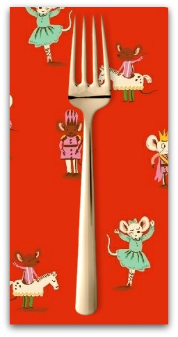 Christmas Collection Sugarplum, Nutcracker Mice in Red, Dinner Napkin