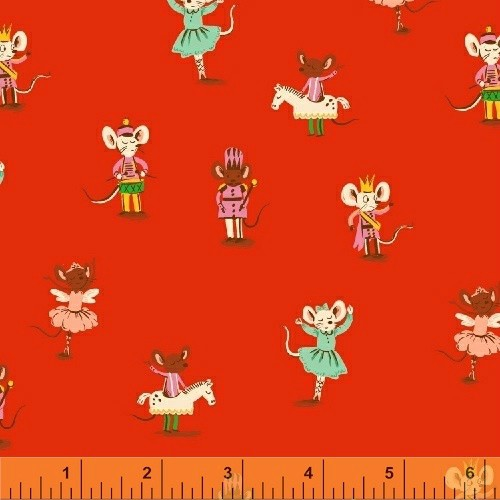 Christmas Collection Sugarplum, Nutcracker Mice in Red, Dinner Napkin
