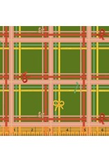 PD's Heather Ross Collection Sugarplum, Plaid in Green, Dinner Napkin
