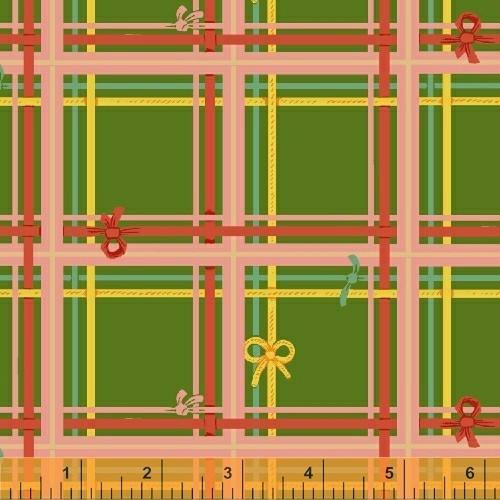 Heather Ross Sugarplum, Plaid in Green, Fabric Half-Yards 50168