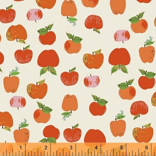 PD's Heather Ross Collection Kinder, Apples in Red, Dinner Napkin