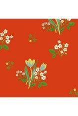 Heather Ross Kinder, Spring Blooms in Red, Fabric Half-Yards 43482