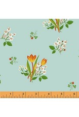 PD's Heather Ross Collection Kinder, Spring Blooms in Pale Blue, Dinner Napkin