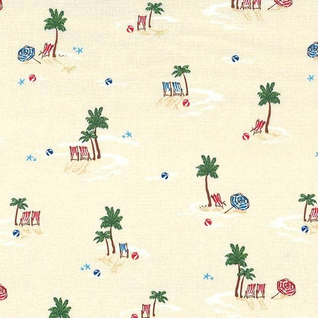 Michael Miller Just Shellin, Lifes a Beach in Sand, Fabric Half-Yards DC8176