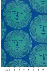 PD's Alexander Henry Collection Nicole's Prints, Here Comes the Sun in Blue, Dinner Napkin