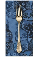 PD's Cotton + Steel Collection Eclipse, Wise Owls in Blue, Dinner Napkin