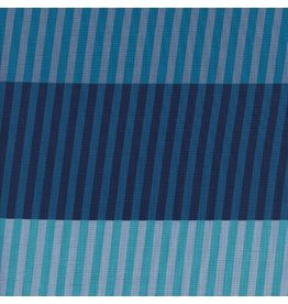 Cotton + Steel ON SALE-Eclipse, Party Stripes in Blue, Fabric Half-Yards  C5194-001