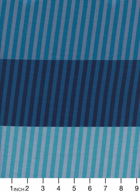 Cotton + Steel Eclipse, Party Stripes in Blue, Fabric Half-Yards  C5194-001