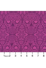 Tula Pink De La Luna, Sugar Skulls in Clairvoyant, Fabric Half-Yards PWTP111