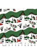 PD'S Free Spirit Collection Mid-Century Christmas, Winter Village in Traditional, Dinner Napkin