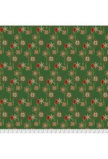 Free Spirit Mid-Century Christmas, Candles in Traditional, Fabric Half-Yards PWFS046