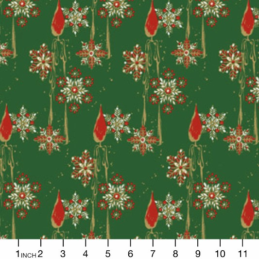 PD'S Free Spirit Collection Mid-Century Christmas, Candles in Traditional, Dinner Napkin