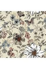 Andover Fabrics Dream, Botanica Large Floral in Cream, Fabric Half-Yards TP-1862-Q