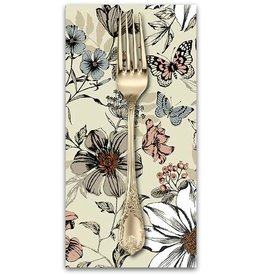 PD's Andover Collection Dream, Botanica Large Floral in Cream, Dinner Napkin