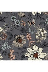 Andover Fabrics Dream, Botanica Large Floral in Silver, Fabric Half-Yards TP-1862-S