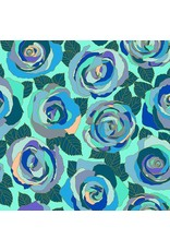 PD's Andover Collection Mosaic, Mosaic Roses in Wintergreen, Dinner Napkin