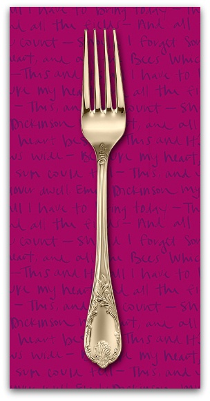 PD's Andover Collection Mosaic, Emily in Plum, Dinner Napkin