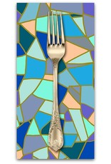 PD's Andover Collection Mosaic, Mosaic Tile in Winter, Dinner Napkin