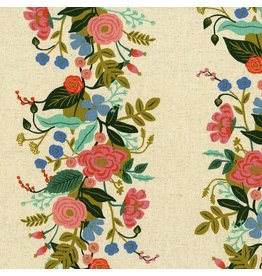 Rifle Paper Co. ON SALE-Linen/Cotton Canvas, English Garden, Floral Vines in Cream, Fabric FULL-Yards AB8067-012