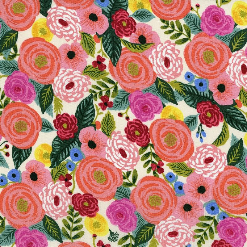 Rifle Paper Co. Rayon, English Garden, Juliet Rose in Cream 8064-15, Fabric Half-Yards