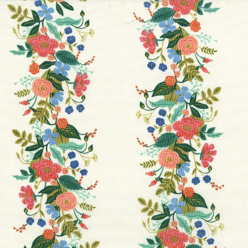 Rifle Paper Co. English Garden, Floral Vines in Cream, Fabric Half-Yards AB8058-001
