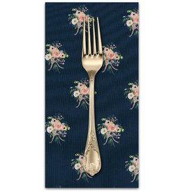 PD's Rifle Paper Co Collection English Garden, Bouquets in Navy, Dinner Napkin
