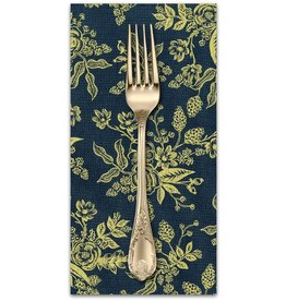 PD's Rifle Paper Co Collection English Garden, Toile in Navy with Metallic, Dinner Napkin