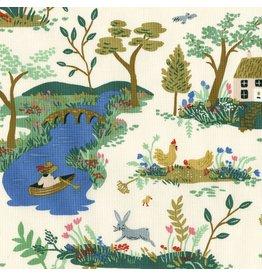 Rifle Paper Co. English Garden, Garden Toile in Cream, Fabric Half-Yards AB8056-001