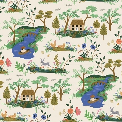 PD's Rifle Paper Co Collection English Garden, Garden Toile in Cream, Dinner Napkin