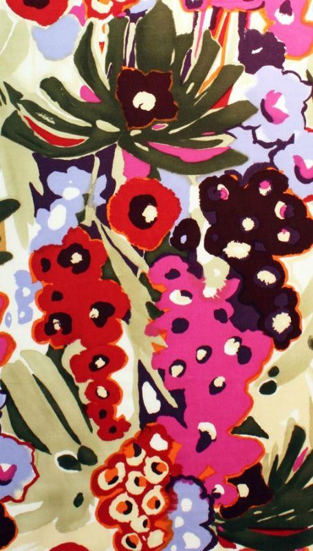Alexander Henry Fabrics Cotton Lawn, AH Caetana in Fuchsia, Fabric Half-Yards L7727A
