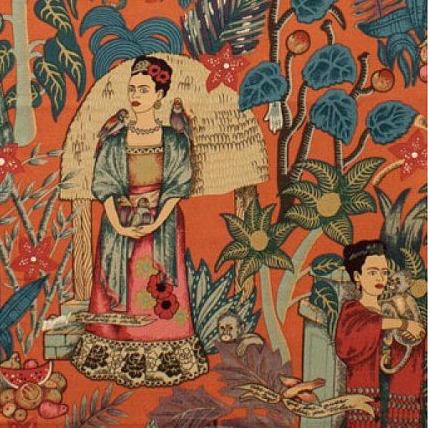 PD's Alexander Henry Collection Folklorico, Fridas Garden in Terra Cotta, Dinner Napkin