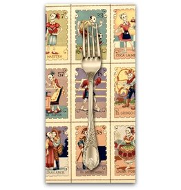 PD's Alexander Henry Collection Folklorico, Cartas Marcadas in Tea, Dinner Napkin