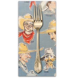 PD's Alexander Henry Collection Santa Fe, Buckaroos in Chambray, Dinner Napkin