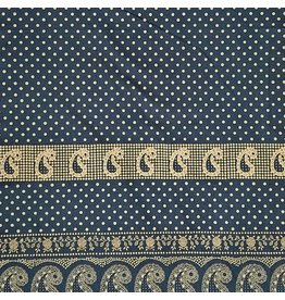 Alexander Henry Fabrics ON SALE-Santa Fe, Durango Bandana in Indigo and Tea, Fabric Half-Yards 8382E