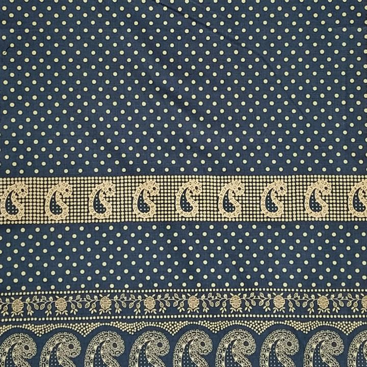 Alexander Henry Fabrics Santa Fe, Durango Bandana in Indigo and Tea, Fabric Half-Yards 8382E