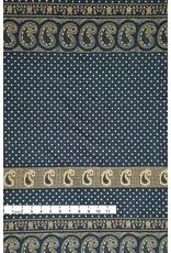 Alexander Henry Fabrics Santa Fe, Durango Bandana in Indigo and Tea, Fabric Half-Yards 8382E