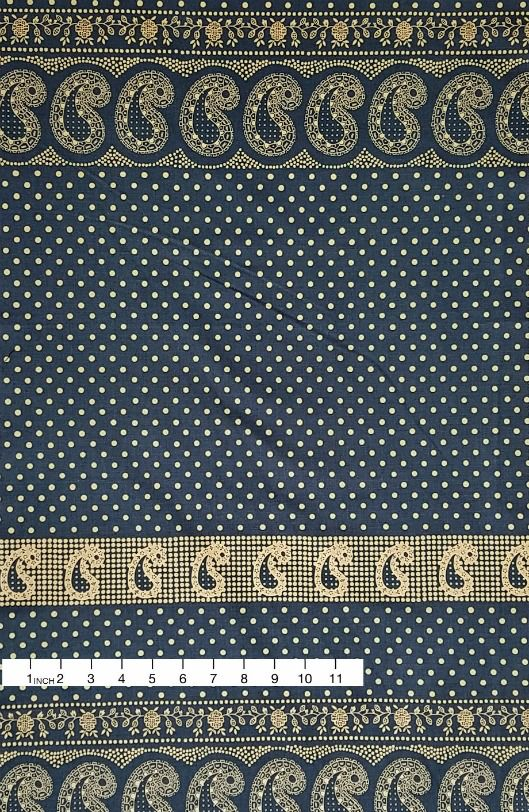 Alexander Henry Fabrics ON SALE-Santa Fe, Durango Bandana in Indigo and Tea, Fabric Half-Yards 8382E