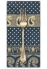 PD's Alexander Henry Collection Santa Fe, Durango Bandana in Indigo and Tea, Dinner Napkin