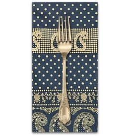 PD's Alexander Henry Collection Santa Fe, Durango Bandana in Indigo and Tea, Dinner Napkin