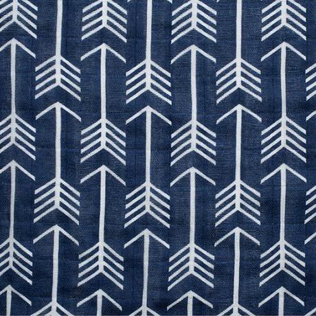 Shannon Fabrics Double Gauze, Embrace, Premium Archer in Cobalt, Fabric Half-Yards