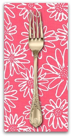 PD's Karen Lewis Collection Blueberry Park, Flowers in Punch, Dinner Napkin