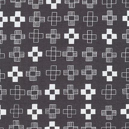 Karen Lewis Blueberry Park, Plus in Gotham Grey, Fabric Half-Yards AWI-17466-400