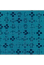 PD's Karen Lewis Collection Blueberry Park, Plus in Teal Blue, Dinner Napkin