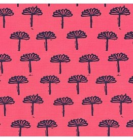 Karen Lewis ON SALE-Blueberry Park, Trees in Punch, Fabric Half-Yards AWI-17467-367