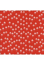 PD's Sarah Watts Collection Front Yard, Clover in Red, Dinner Napkin