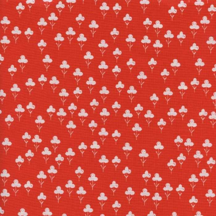 Sarah Watts ON SALE-Front Yard, Clover In Red, Fabric Half-Yards S2073-003