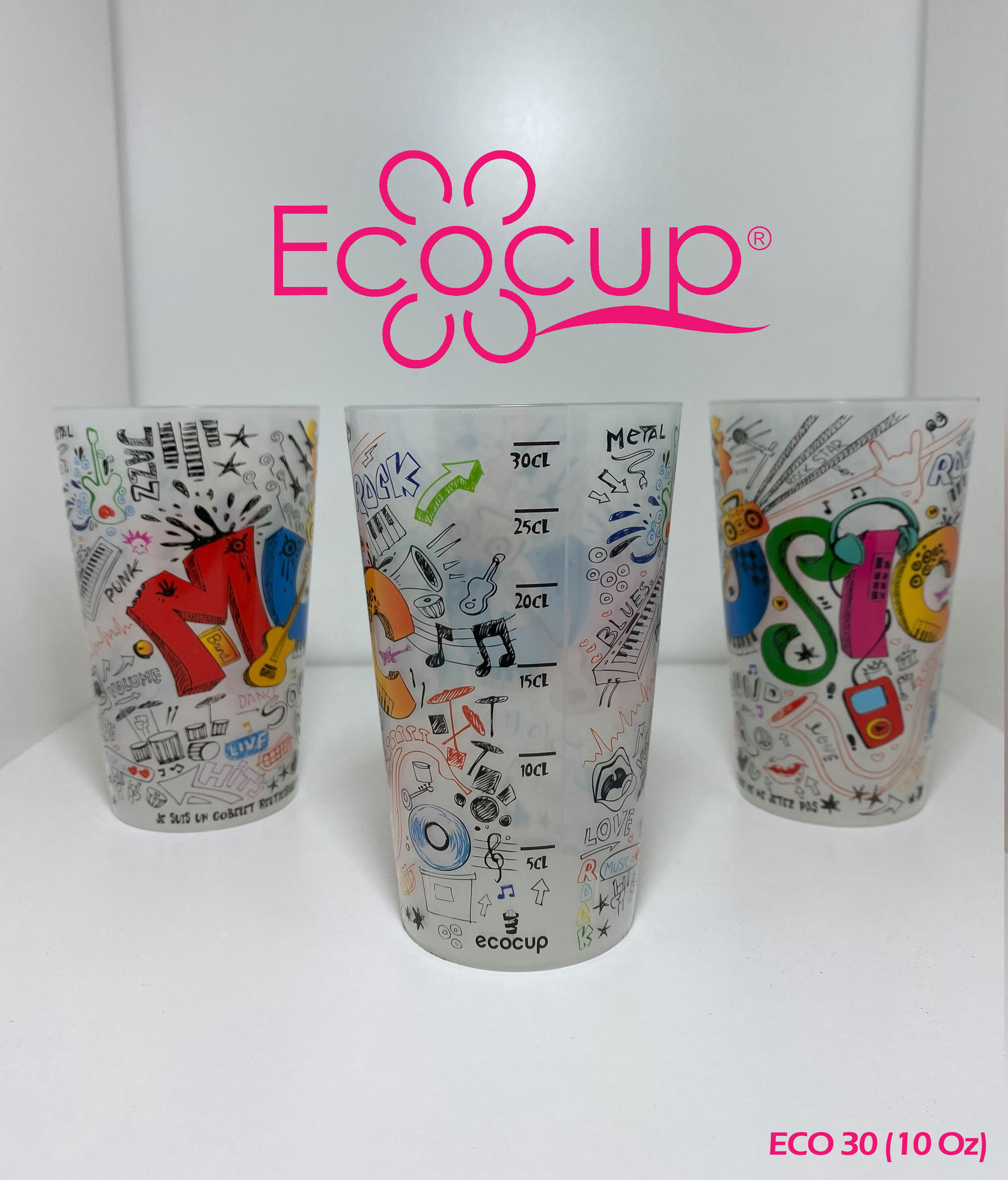 Eco30 (30cl/10oz) 500/Carton LAVAGE INCLUS
