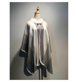 Alpaca TC 1 Alpaca wool poncho - Choice of color
