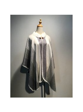 Alpaca TC 1 Alpaca wool poncho - Choice of color
