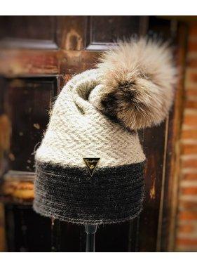 Irena Geerts 100% Alpaca pom pom  hat